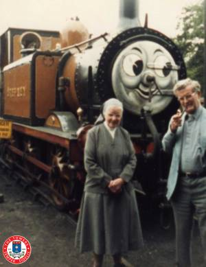 Mother Bernard With Canon José At The Bluebell Railway