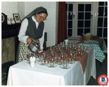 Sister Patricia Prepares A Coffee Morning