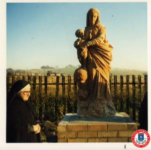 Sister Philomena With 'Our Lady Of Victories