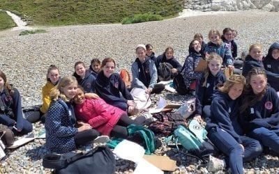 Year 7 Geographers at Seven Sisters Country Park