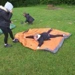 Putting up tents bronze dofe 2019