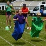 Junior Sack Race on the Field during Sports Day 2019